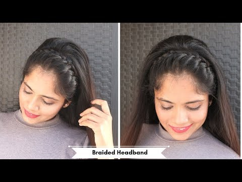 Braided Full Headband Hairstyle /Open Hair Hairstyle For Party,Function thumbnail