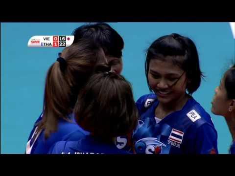 HL | วอลเลย์บอลหญิง เอวีซี คัพ 2016 | เวียดนาม - ไทย