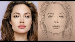Draw Faces | 3 Easy Steps | Angelina Jolie