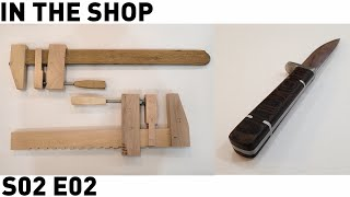 The Wooden Bar Clamp(s) And Cold Chisel Knife