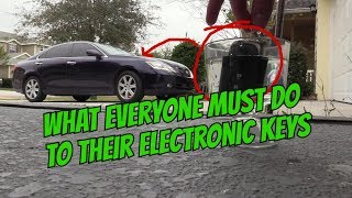 How to Waterproof Electronic Car Key Remote Circuit !!!