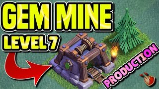 HOW MANY GEMS DOES A MAX LEVEL 7 GEM MINE PRODUCE | BUILDERS HALL 7 GUIDE | Clash of Clans
