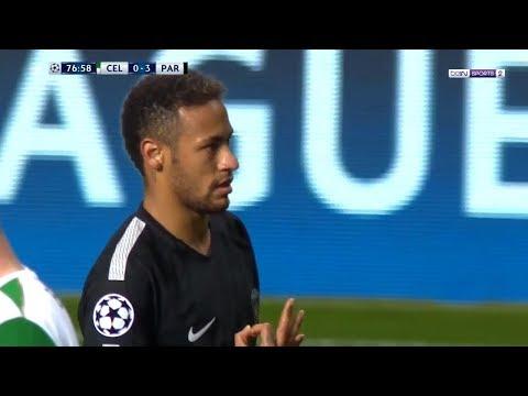 Olha Neymar Destruindo o Celtic Hoje na Liga dos Campeões 12/09/2017