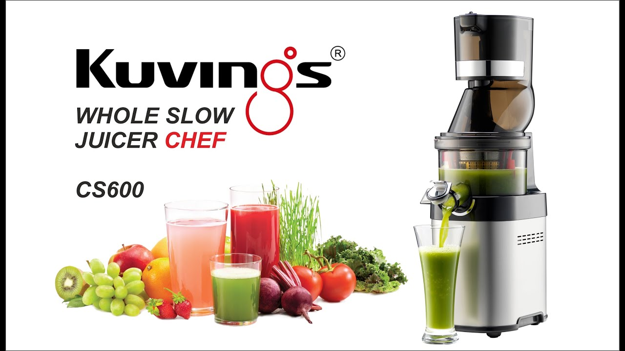 Royal Chef Slow Juicer Reviews : Juicing with Kuvings Chef CS600 - YouTube