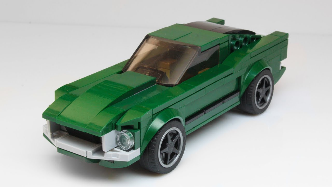lego bullitt ford mustang moc youtube. Black Bedroom Furniture Sets. Home Design Ideas