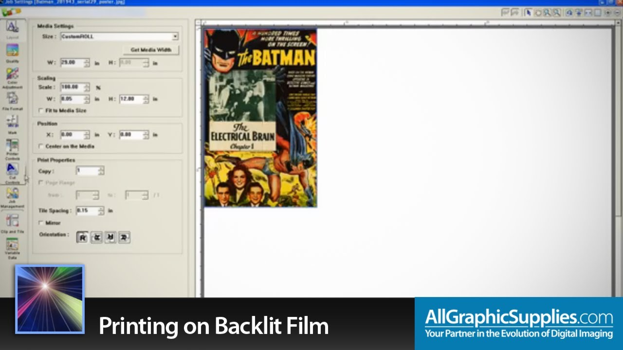 Printing on Backlit Film in Roland VersaWorks - All Graphic Supplies