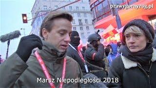 Marsz Niepodległości 2018 - Krzysztof Bosak wywiad dla mediów zagranicznych