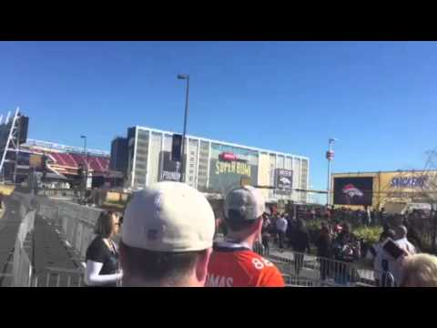 Outside Levi Stadium For Super Bowl 50 #SB50