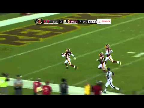 Brandon Banks with a 95 Yard Punt Return for a TD (9-01-2011)