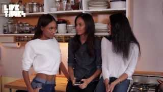 Joan Smalls: With Chanel Iman and Jourdan Dunn on the Season 3 Premiere of WELL DUNN