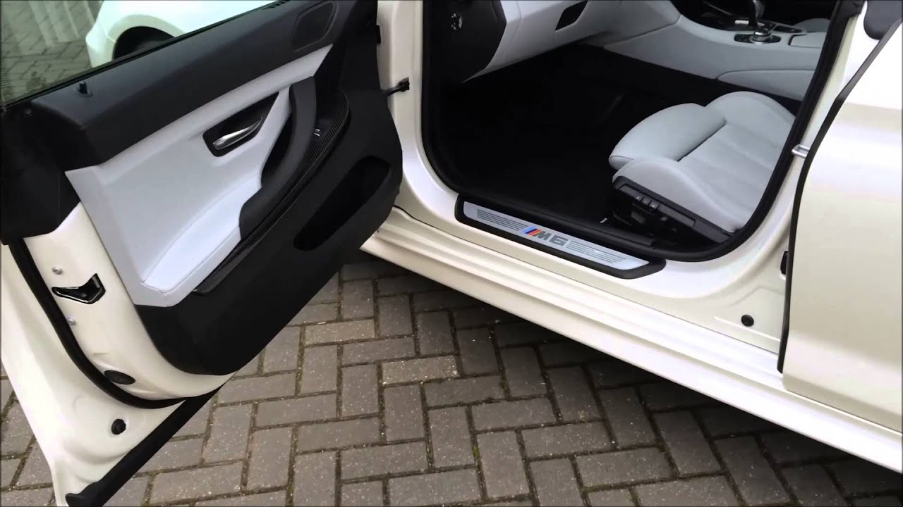 Bmw M6 3m Satin Pearl White Wrap By Premier Vehicle Wrapping Youtube