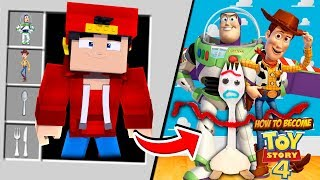 Minecraft - HOW TO BECOME FORKY FROM TOY STORY 4!
