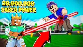 I got 20,000,000 LIGHTSABER POWER & Became KING! (Roblox)