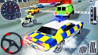 Polis Araba Sürme: Motosiklet Sürme - Polis Memuru Simülatörü - Android GamePlay