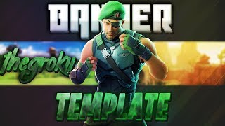 BANNER TEMPLATE FORTNITE [FREE] PhotoShop Cs6
