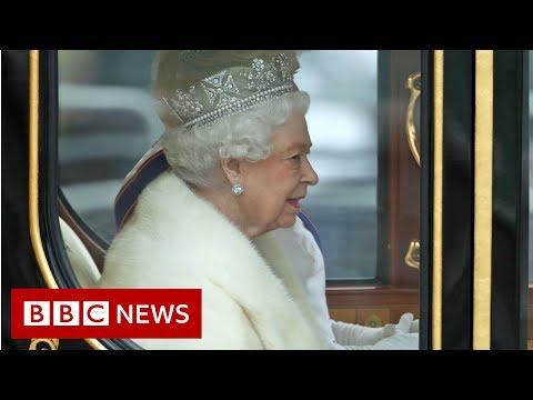 Queen arrives at