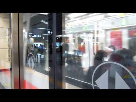 Shenzhen metro Line 1 (Luobao Line)MOVIA train 108 depart Laojie station