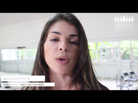 Bailarina Angélica Gamboa en el Taller Lenguaje y Voz CTCR