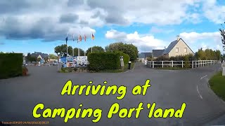 Arriving at CAMPING PORT'LAND - Port-en-bessin - NORMANDY, FRANCE - Aug 2018