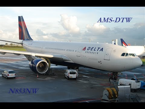 Flight Experience   Delta 135   Airbus A330-200   Amsterdam to Detroit