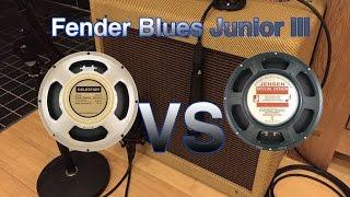 G12M-65 Creamback VS Jensen C12N - Blues Junior