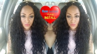 Installing and Styling My RAW INDIAN CURLY HAIR Exotic Hair Babes.com