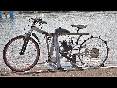水上自転車作ってみた!原型がねーw