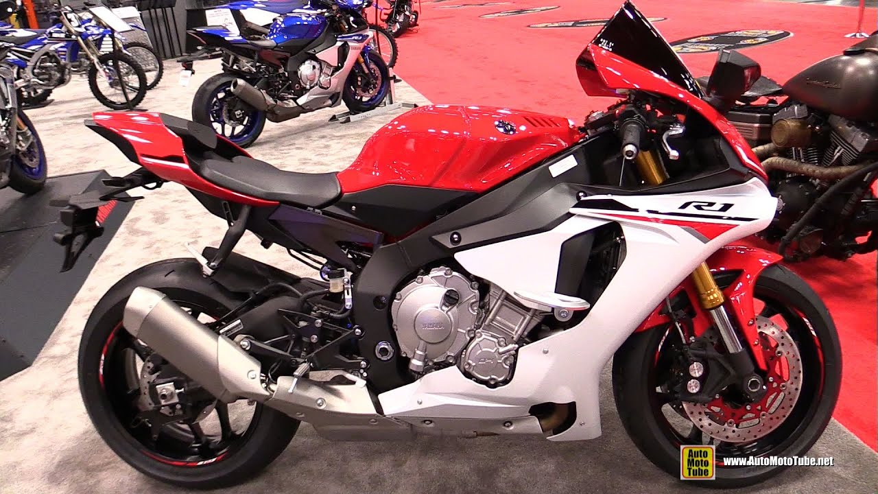 2015 yamaha yzf r1 red white walkaround 2014 new york. Black Bedroom Furniture Sets. Home Design Ideas