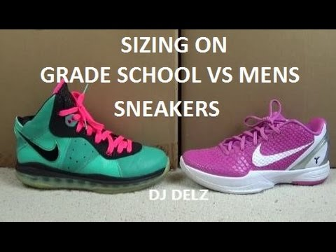 new product 53898 78a26 Sizing With Nike Jordan Grade School GS VS Men Shoes With  DjDelz On ...