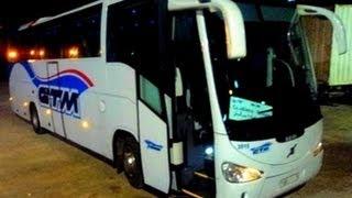 morrocan autocar a bord du irizar new century volvo b9r ctm sur la route rabat berkane