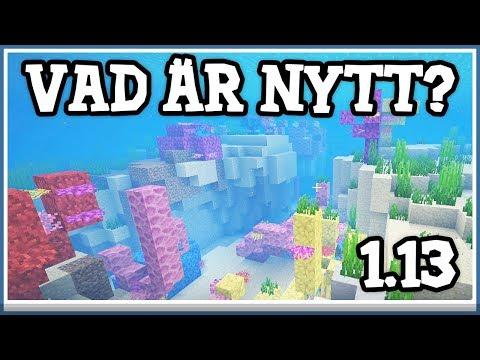 Vad är nytt i Minecraft 1.13?