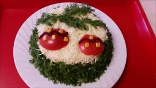 ВКУСНЫЙ ,ПРАЗДНИЧНЫЙ , НОВОГОДНИЙ салат СЛОЙКА Праздничное украшение Decoration