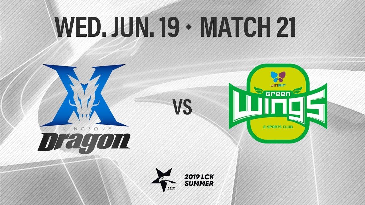 킹존 vs 진에어 | Match22 H/L 06.19 | 2019 LCK 서머