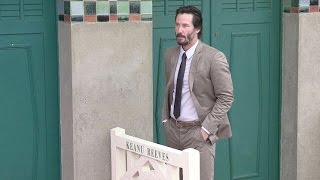 Forever young Keanu Reeves, 51, attends the Deauville American Film Festival