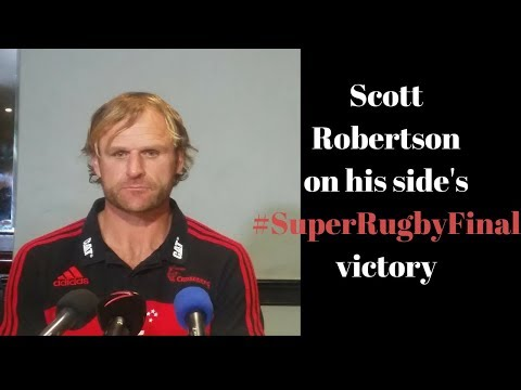 @Crusadersrugby coach Scott Robertson on the win