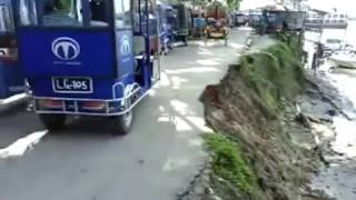 Road mishaps often happen due to the narrow and dilapidated roads in Mehendiganj