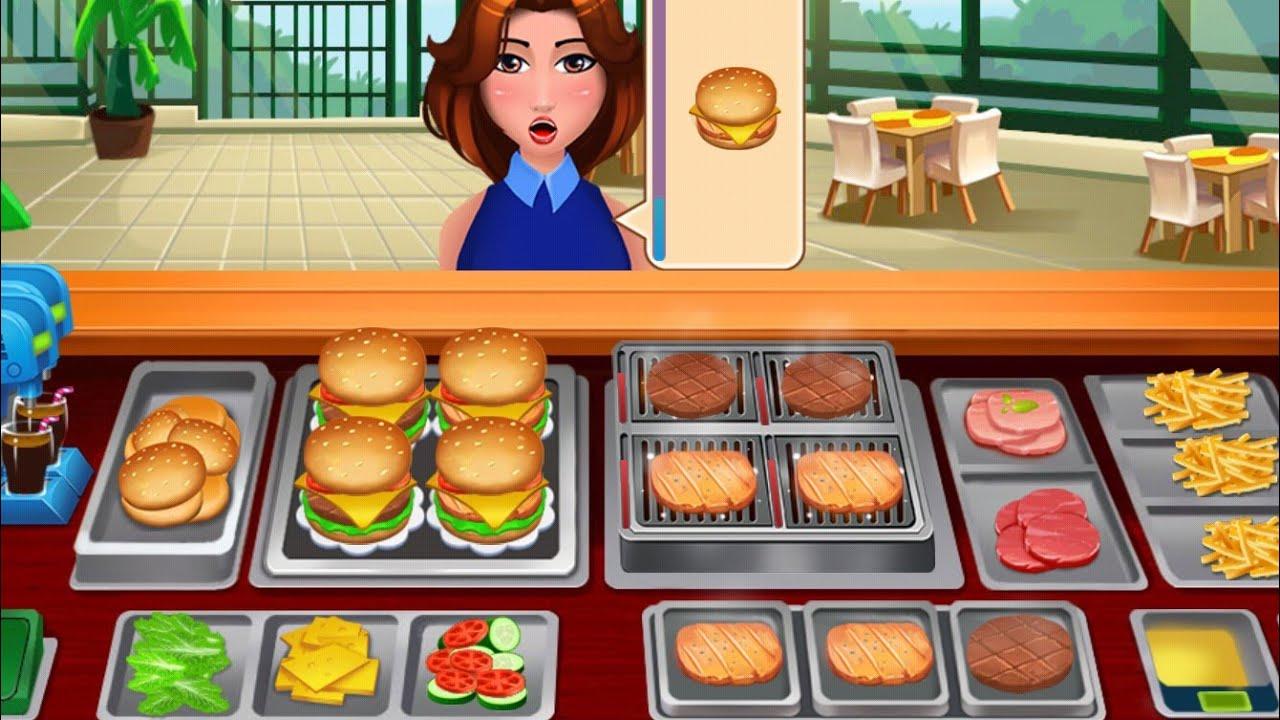 Masak Masakan Anak Kecil Permainan Masak Chef Restaurant Menyenangkan Masak Burger Youtube
