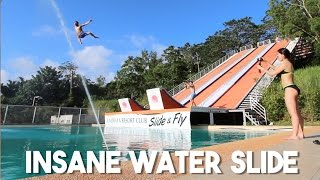 Largest Water Slide in the Philippines (EXTREME!)