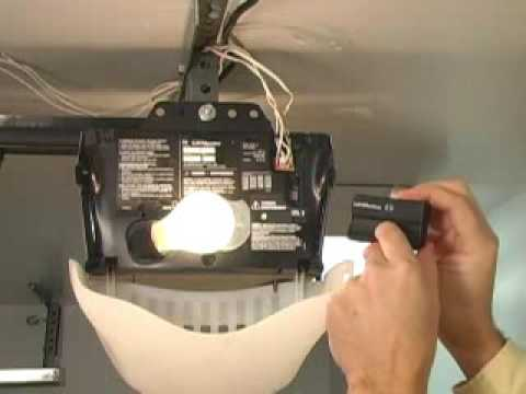 Resetting Overhead Garage Door Opener