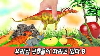 한국어ㅣ우리집 공룡들이 자라고 있다 8, 어린이 공룡만화, 공룡이름 맞추기, 컬렉타&코레샵ㅣ꼬꼬스토이