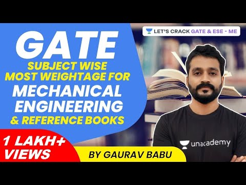 GATE 2021 Subject Wise Most Weightage for Mechanical Engineering and Reference Books | Gaurav Babu
