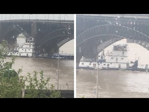 Nick Wize - A Towboat on the Mississippi River Hits a Bridge