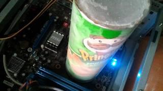 potato chip pringles amd cpu ice cooling heatsink