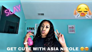 get cute w/ me 😍 ft. Tinashe Hair | Asia Nicole
