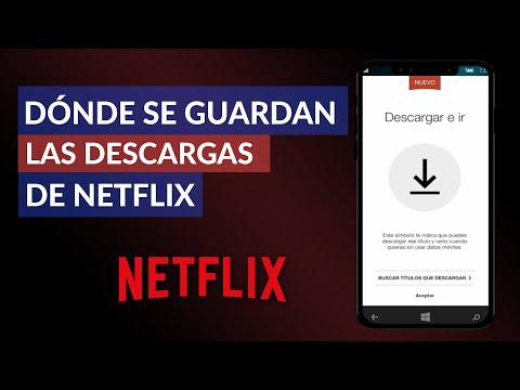Dónde se Guardan las Descargas que se Hacen en Netflix