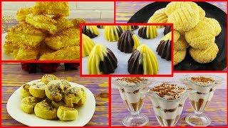 5 РЕЦЕПТОВ к чаю за 30 минут! Простые и быстрые Рецепты печенья и десерта!