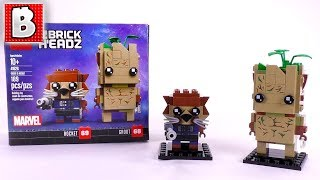 LEGO Marvel Infinity War Rocket & Groot Review! | BrickHeadz 41626