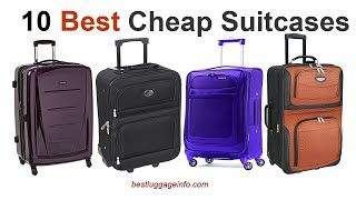 Best Cheap Suitcases | Ten Best Cheap Carry On Luggage Sale.