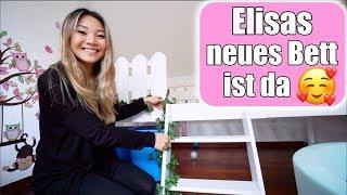 Elisas großes Bett 😍 Claras beste Freundin zu Besuch! Neues Hausbett im Kinderzimmer | Mamiseelen