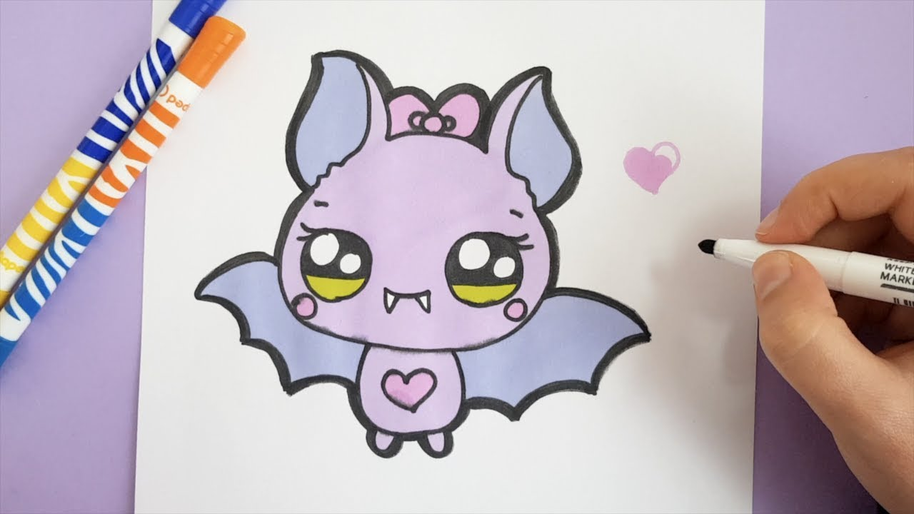 Kawaii Fledermaus Malen Halloween Bilder